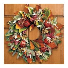 Magnolia Wreath with Pomegranates | Williams-Sonoma