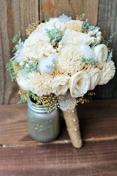 Sola Bouquet, Wedding Bouquet, Rustic Wedding, Bridal Bouquet, Country Wedding