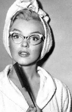 Marilyn in cat's eye glasses