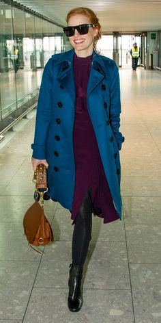 The Burberry Trench Celebrities Can't Get Enough of - Jessica Chastain from InStyle.com