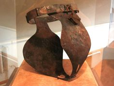 Female chastity belt. Museum of tortures in Peter and Paul Fortress, St. Petersburg, Russia