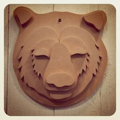 DIY Craft Project Make Your Own Wild Bear Wall Decor $75