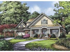 Eplans Country House Plan - Three Bedroom Country - 3161 Square Feet and 3 Bedrooms from Eplans - House Plan Code HWEPL63862