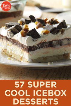 Homemade Desserts, Frozen Desserts, Summer Desserts, Easy Desserts, Delicious Desserts, Yummy Food, Tasty, Pie Dessert, Eat Dessert First