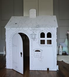cardboard playhouse - traditional kids toys
