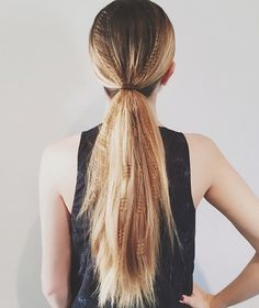 A crimped, Gigi Hadid-worthy ponytail