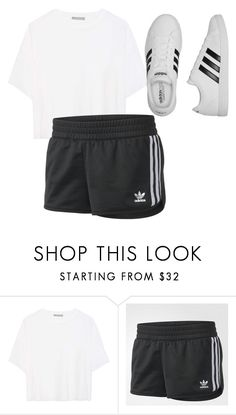 """""""Untitled #97"""" by halissiaelviracra on Polyvore featuring Vince and adidas"""