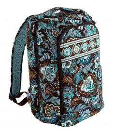 Vera Bradley Laptop Backpack in Java Blue