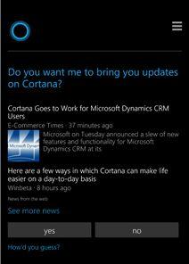 Cortana, l'assistente vocale di Windows 10 parla italiano.