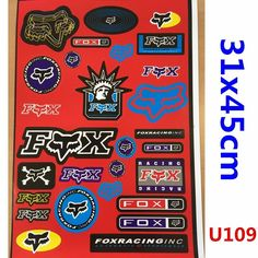 Fox Sticker Decal Car Motorised Bike Dirt ATV Quad Motorcycle Motocross Caravan