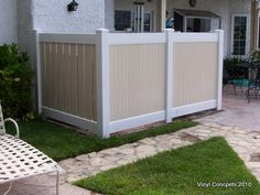 Creative Way to hide your AC Unit, with a Vinyl Fence