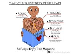 5 Areas for listening to the heart sounds