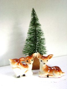 Vintage Salt and Pepper Shakers Deer Bambi Japan by junquegypsy, $15.40