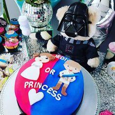 Star Wars Baby Shower Gender Reveal - Pink or Blue - Darth Vader - Death Star Centerpiece