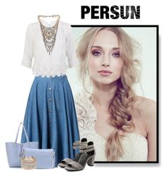 """persunmall 10"" by elenb ❤ liked on Polyvore featuring мода, Tom Binns, skirt, persunmall и auntmn"