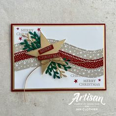 Homemade Christmas Cards, Stampin Up Christmas, Christmas Cards To Make, Homemade Cards, Holiday Cards, Tarjetas Stampin Up, Stampin Up Weihnachten, Star Cards, December