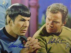 William Shatner Leonard Nimoy Star Trek Autograph - Signed Photo