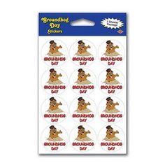 Groundhog Day Stickers Party Accessory (1 count) (2 Shs/Pkg) - Listing price: $3.50 Now: $1.99
