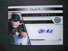 2006 Tristar Prospects Plus Farm Hands Autograph #2 Jeff Baisley A's Athletics NM/MT