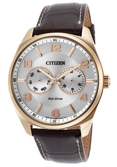Citizen Men s Eco-Drive Gold-Tone Watch with Brown Leather Band Watches  online Citizen Men s Eco-Drive Gold-Tone Watch with Brown Leather Band is  one of the ... affb0265a13