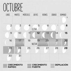 10 Best Calendario Lunar Octubre 2018 Images Moon Calendar Lunar Calendar Calendar Printables
