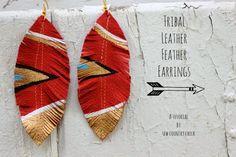 Diy.....unos pendientes étnicos de plumas | Cuidar de tu belleza es facilisimo.com