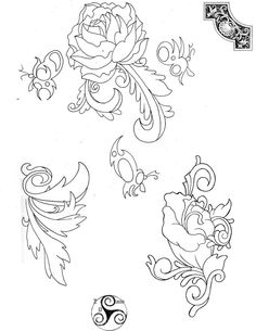 Tattoo Line Drawings 2