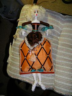 Marie Antionette Handmade OOAK Cloth/Fabric Art Doll by sherimusum, $100.00
