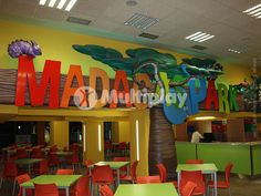 Madagas Park - Valencia, Spain. Designed, built and installled by Multiplay. Features include Tube Slide, Spiral Slide, V Bridge, Soft Play Structures, Triple Wave Slide, Single Wave Slide, Ball Pits, Kids Tunnel, Punching Bags, Arched Bridge, Themed Signage. Find us here: http://multiplay-uk.co.uk/ or call +44 (0)1252 933 839 #PlayStructure #MadagasPark #Playground #SCPE