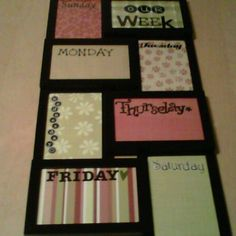 Project #1 done - Weekly to do's