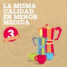 Si necesitas preparar tu café diario, la cafetera Volturno de 3 pocillos es ideal para vos. Elegí Volturno, elegí el café más rico.