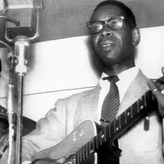 """Elmore James had one immortal lick: the staccato-and-downhill slide riff. """"But it was a great lick,"""" says slide guitarist Derek Trucks. """"There was something unleashed in his playing, that acoustic guitar with the electric pickup. When he's singing, you hear his voice through the electric pickup."""" James' tone inspired guitarists: """"I practiced 12 hours a day, every day, until my fingers were bleeding, trying to get the same sound as Elmore James got,"""" Robbie Robertson said."""