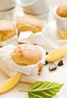 Citrónové muffiny s marmeládou
