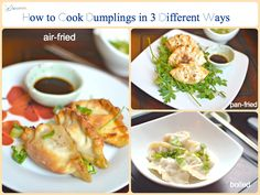 1 minute recipe video! Fresh pork dumplings cooked in AirFryer, pan fried or boiled. Make fresh Gyoza. Make fresh dumplings. 水餃.