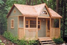 Cheap Log Cabin Kits Small Prefab Cabin Kits, plans for cabins and cottages Guest House Cottage, Br House, Garden Cottage, Tiny House Living, Cozy Cottage, Guest Houses, Guest Cabin, Guest Cottage Plans, Guest House Shed