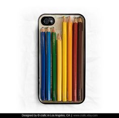 Color Pencils Set iPhone Hard Case / Fits iPhone 4 4s by CRAFIC, $16.99