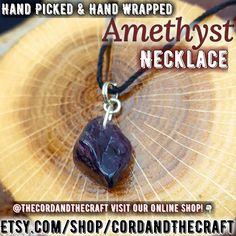 DEEP PURPLE, Stunning Amethyst Crystal Necklace
