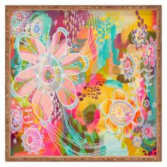 Deny Designs Stephanie Corfee Swoon Art Print 18 x 24 Painting Inspiration, Art Inspo, Oki Doki, Hippie Art, Abstract Flowers, Abstract Art, Psychedelic Art, Community Art, Wall Collage