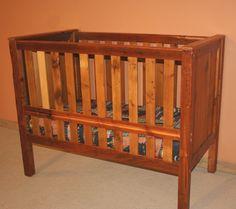 Barn Wood Convertible Baby Crib