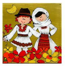 dragobete desen Crafts For Kids, Arts And Crafts, Educational Crafts, Traditional Paintings, Custom Tees, Floral Illustrations, Vintage Children, Vintage Decor, Art Pictures