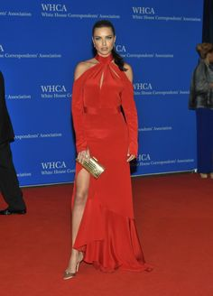 Looking sexy in a Juan Carlos Obando dress, Victoria's Secret model Adriana Lima was red hot as she hit the red carpet at the White House Correspondents' Association Dinner on April 30, 2016 in Washington D.C.