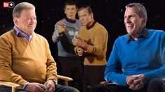 """NACH 25 JAHREN WIEDER GEMEINSAM VOR DER KAMERA BILD trifft """"Captain Kirk"""" und """"Mr. Spock"""""""