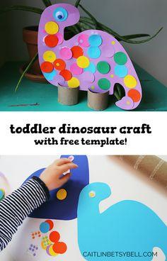 Caitlin Betsy Bell | DIY Dinosaur Dinosaur Art Projects, Toddler Art Projects, Toddler Crafts, Toddler Activities, Vocabulary Activities, Dinosaur Theme Preschool, Preschool Themes, Preschool Crafts, Dinosaur Dinosaur