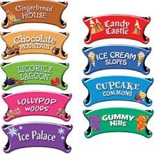 Candy Land Directional Sign - Candy Land Directional Signs Set - Party Supplies & Girl Birthday Cutouts