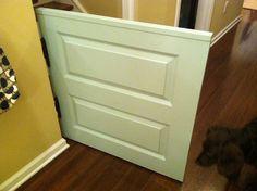 Diy Dog Gate, Diy Baby Gate, Baby Gates, Pet Gate, Door Redo, Half Doors, Smart Tiles, Savvy Southern Style, Door Gate