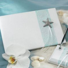 Seaside Allure Guest Book and Pen Set by Beau-coup