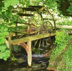 Waterwheel Country Cabin Decor, Water Wheels, Perpetual Motion, Water Mill, 10 Picture, Windmills, Big Project, Lighthouses, Garden Bridge