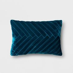 Create your own unique eclectic style in any living space in your home by adding this Pleated Velvet Lumbar Pillow from Opalhouse™ as an accent. This decorative throw pillow features a dynamic pleated design on the front that creates movement and texture. Made with a velvet-like material to give it a soft feel and a unique color, this velvet accent pillow can help you create eclectic style in any room. <br><br>This is your house. Where you create spaces as bold as your sp...