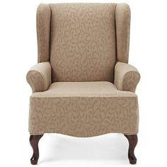 SureFit(TM) 'Fresca' 1-Piece Wing Chair Slipcover - Sears | Sears Canada