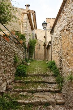 Street in Orient - Mallorca, Illes Balears, Espanya.